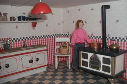 Higgs House kitchen stove.