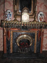 Grand Victorian fireplace.