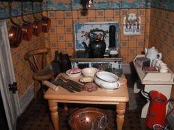 Edwardian house kitchen.
