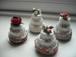 My dusty old  wedding cakes