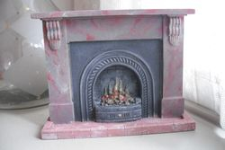 Hand painted plaster fireplace.