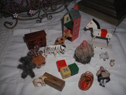Toys from my Edwardian house.