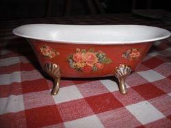 Brass soap dish bath.