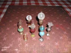 Oil lamps made by Joan.