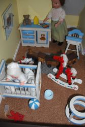 """""""Oh Michael,you've thrown all your toys out of the cot again!"""""""