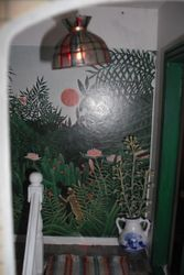 Jungle mural (I painted one of these on my hall wall in the 70s)