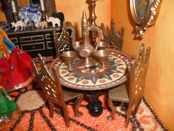 Table and chairs from my Indian house.