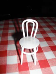 cute metal chair.