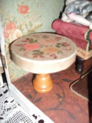 Handmade table.