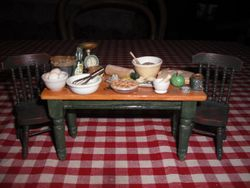 Victorian kitchen table,home made.