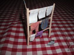 Paper airer and little wooden iron.