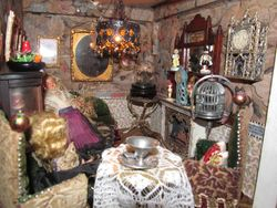 Crowded Victorian living room!