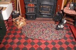 Braided kitchen mat.