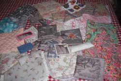 Just look at all the lovely quilts and cushions Dottie Lottie made for my sale!!!!