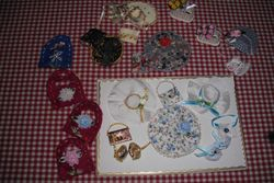 Just look at the hats, shoes and bags Jill Friendship made for my sale!