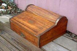 Nautical roll-top lap desk