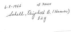 Elizabeth B. (Hoover) Schell, 1966