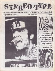 Stereo-Type September 1988 cover
