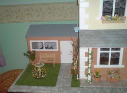 The house with garage & garden added