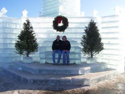 Rick & Colleen by Ice Castle in Eagle River