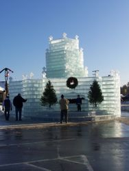 Ice Castle in Eagle River, Wisc.