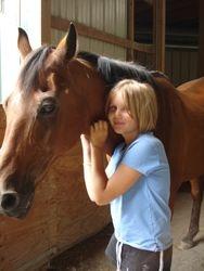 Nikki with her pony, Falkor