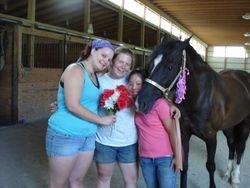 Mandi, Stephi, and Jenna with Luna