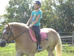 Alex riding Alex in the outdoor