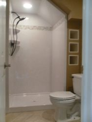 1/2 bath converted into shower After