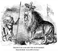 The British Lion and The Irish Monkey