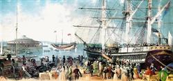 Irish coming into NY in 1847