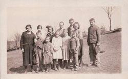 Speck School 1922 with: Harriet Norris; Chalmer Norris; Hiram Norris, Philip Norris
