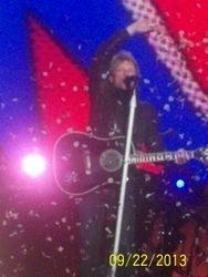 Bon Jovi waving during show