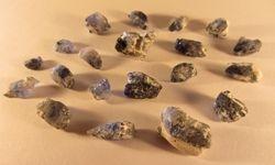 rough Kashmir sapphire crystals