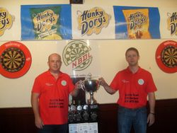 President and chairman unveil the league tropht