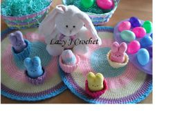 Round Pastel Placemats