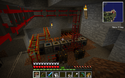 6 steam engines, a magmatic engine, a NASA workbench and a bunch of kewl Tekkit machines