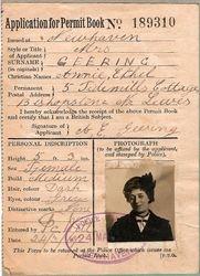 Annie Geering WW1 Pass