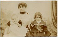 Annie Geering with Jack & Arthur