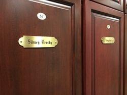 Sydney Crosby and Bobby Orr's locker at Fox Harb'r