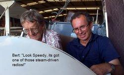 Bert and Speedy in GLM's fuselage