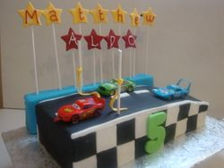 Race Track cake1 (B035)