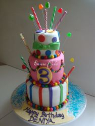 Candyland themed cake (B060)