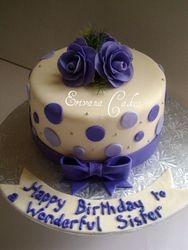 Purple and Lilac Polka dot cake (SP117)