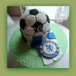 Soccer Ball Cake with Chelsea Logo(SP062)
