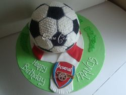 Soccer Ball with Arsenal scarf(SP061)