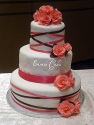 Pink and White Wedding cake 1 (W012)