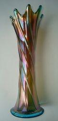 Spiralex Sapphire Vase