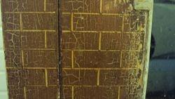 chipped brickwork