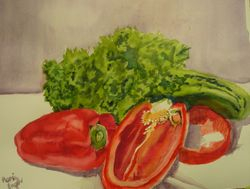 Red Peppers and Kale